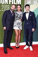 "Ralph Fiennes,  Katherine Jenkins and Oleg Ivenko<br /> London Film Festival screening of ""The White Crow"" at the Embankment Gardens, London<br /> <br /> ©Ash Knotek  D3447  18/10/2018"