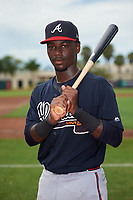 GCL Braves Michael Harris (26) poses for a photo before a Gulf Coast League game against the GCL Orioles on August 5, 2019 at Ed Smith Stadium in Sarasota, Florida.  GCL Orioles defeated the GCL Braves 4-3 in the second game of a doubleheader.  (Mike Janes/Four Seam Images)