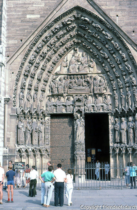 Paris: Notre Dame--Portal to the Virgin, 13th century. North Portal. Photo '87.