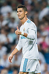 Cristiano Ronaldo of Real Madrid reacts during the La Liga 2017-18 match between Real Madrid and Real Betis at Estadio Santiago Bernabeu on 20 September 2017 in Madrid, Spain. Photo by Diego Gonzalez / Power Sport Images