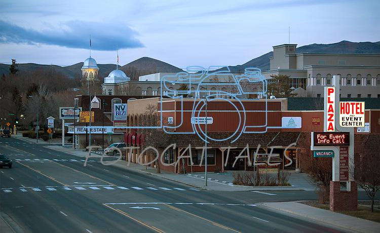 Downtown Carson City, Nev., on Sunday, Feb. 28, 2016.<br /> Photo by Mark Carmonne/Nevada Photo Source