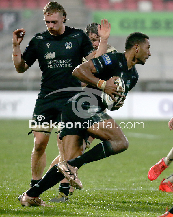 Monday 9th November 2020 | Ulster Rugby vs Glasgow Warriors<br /> <br /> Ratu Tagive during the Guinness PRO14 Round 5 match between Ulster Rugby and Glasgow Warriors at Kingspan Stadium in Belfast, Northern Ireland. Photo by John Dickson / Dicksondigital