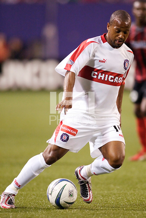 The  Chicago Fire's Andy Williams. The Chicago Fire played the NY/NJ MetroStars to a one all tie at Giant's Stadium, East Rutherford, NJ, on May 15, 2004.