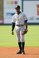 Shortstop Tim Beckham #26 of the Bowling Green Hot Rods on defense versus the Kannapolis Intimidators at Fieldcrest Cannon Stadium August 23, 2009 in Kannapolis, North Carolina. (Photo by Brian Westerholt / Four Seam Images)