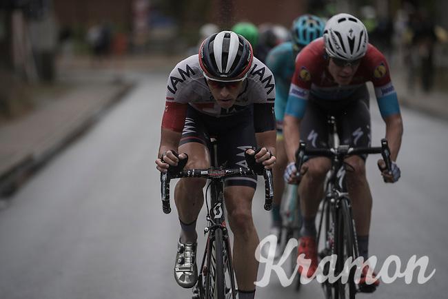 Oliver Naesen (BEL/IAM) & Bob Jungels (LUX/Etixx-QuickStep) up front<br /> <br /> 12th Eneco Tour 2016 (UCI World Tour)<br /> Stage 7: Bornem › Geraardsbergen (198km)