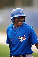 Toronto Blue Jays DJ McKnight (84) during a minor league Spring Training game against the Philadelphia Phillies on March 26, 2016 at Englebert Complex in Dunedin, Florida.  (Mike Janes/Four Seam Images)