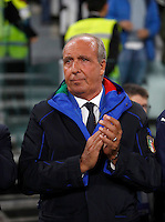 Italy coach Giampiero Ventura waits for the start of the Fifa World Cup 2018 qualification soccer match between Italy and Spain at Turin's Juventus Stadium, October 6, 2016. The game ended 1-1.<br /> UPDATE IMAGES PRESS/Isabella Bonotto