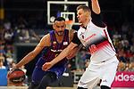 League ACB-ENDESA 201/2019.Game 38.<br /> PlayOff Semifinals.1st match.<br /> FC Barcelona Lassa vs Tecnyconta Zaragoza: 101-59.<br /> Adam Hanga vs Seibutis.