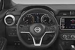 Car pictures of steering wheel view of a 2021 Nissan Micra N-Sport 5 Door Hatchback Steering Wheel