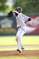 August 12, 2009: Elisual Primental of the Ogden Raptors. The Ogden Raptors are the Pioneer League affiliate of the Los Angeles Dodgers. Photo by: Chris Proctor/Four Seam Images