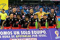 BARRANQUILLA-COLOMBIA, 04-08-2019: Jugadores de América de Cali, posan para una foto, antes de partido entre Atlético Junior y América de Cali, de la fecha 4 por la Liga Águila II 2019, jugado en el estadio Metropolitano Roberto Meléndez de la ciudad de Barranquilla. / Players of America de Cali, pose for a photo, prior a match between Atletico Junior and America de Cali, of the 4th date for the Aguila Leguaje I 2019 played at the Metropolitano Roberto Melendez Stadium in Barranquilla city, Photo: VizzorImage / Alfonso Cervantes / Cont.