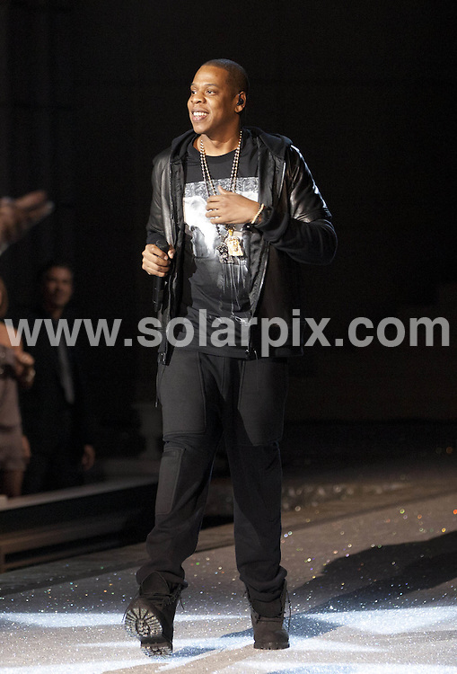 **ALL ROUND PICTURES FROM SOLARPIX.COM**                                             **SYNDICATION RIGHTS FOR UK, AUSTRALIA, DENMARK, PORTUGAL, S. AFRICA, SPAIN & DUBAI (U.A.E) & ASIA (EXCLUDING JAPAN) ONLY**                                                                                  Caption: 2011 Victoria's Secret Fashion Show  Runway and Performance at Lexington Avenue Armory in New York City, NY, USA                                                                               This pic: Jay-Z                                                                                             JOB REF:14174        PHZ/Mayer       DATE:09.11.2011                                                            **MUST CREDIT SOLARPIX.COM OR DOUBLE FEE WILL BE CHARGED**                                                                      **MUST AGREE FEE BEFORE ONLINE USAGE**                               **CALL US ON: +34 952 811 768 or LOW RATE FROM UK 0844 617 7637**