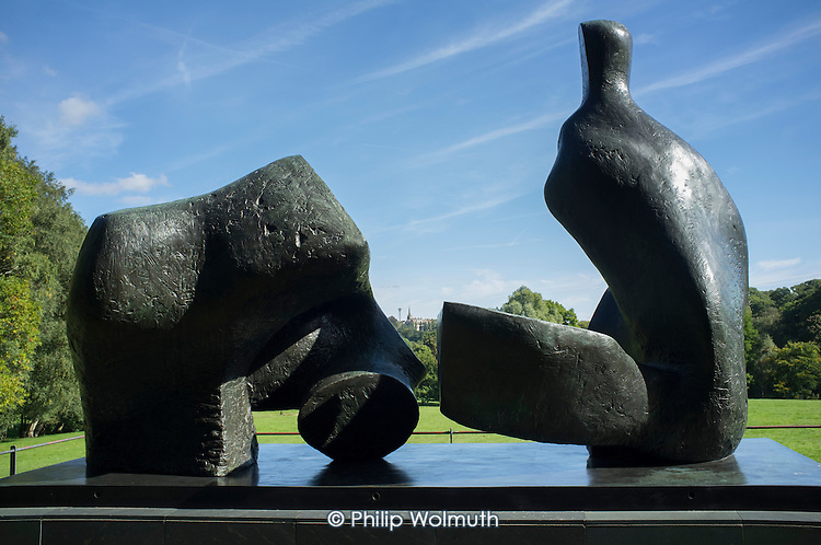 Two Piece Reclining Figure 5 by Henry Moore at Kenwood House Hampstead London