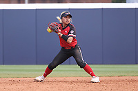 GREENSBORO, NC - MARCH 11: Kenny Litana #12 of Northern Illinois University throws to first base during a game between Northern Illinois and UNC Greensboro at UNCG Softball Stadium on March 11, 2020 in Greensboro, North Carolina.