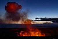OCT 03 Volcanic eruption at the Kiluaea Volcano on the Big Island of Hawaii in Volcano, HI