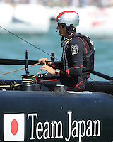 Dean Barker CEO/Skipper of SoftBank Team Japan, JULY 23, 2016 - Sailing: Dean Barker CEO/Skipper of SoftBank Team Japan pauses between races during day one of the Louis Vuitton America's Cup World Series racing, Portsmouth, United Kingdom. (Photo by Rob Munro/Stewart Communications)