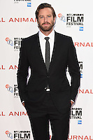 """Armie Hammer<br /> at the London Film Festival 2016 premiere of """"Nocturnal Animals"""" at the Odeon Leicester Square, London.<br /> <br /> <br /> ©Ash Knotek  D3179  14/10/2016"""