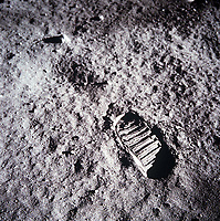 footsteps on the surface of the Moon, July 20, 1969