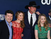 """HOLLYWOOD, LOS ANGELES, CA, USA - APRIL 29: Sean Astin, Sarah Drew, Trace Adkins, Abbie Cobb at the Los Angeles Premiere Of TriStar Pictures' """"Mom's Night Out"""" held at the TCL Chinese Theatre IMAX on April 29, 2014 in Hollywood, Los Angeles, California, United States. (Photo by Xavier Collin/Celebrity Monitor)"""