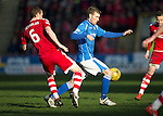 Aberdeen v St Johnstone…27.02.16   SPFL   Pittodrie, Aberdeen<br />David Wotherspoon and Mark Reynolds<br />Picture by Graeme Hart.<br />Copyright Perthshire Picture Agency<br />Tel: 01738 623350  Mobile: 07990 594431