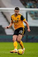 7th February 2021; Molineux Stadium, Wolverhampton, West Midlands, England; English Premier League Football, Wolverhampton Wanderers versus Leicester City; Leander Dendoncker of Wolverhampton Wanderers hits a pass through the centre
