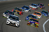 Monster Energy NASCAR Cup Series<br /> Hollywood Casino 400<br /> Kansas Speedway, Kansas City, KS USA<br /> Sunday 22 October 2017<br /> Toyota Camry Pace Car leads Kyle Busch, Joe Gibbs Racing, M&M's Halloween Toyota Camry<br /> World Copyright: Barry Cantrell<br /> LAT Images