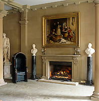 """""""Bolton Abbey in the Olden Time' by Sir Edwin Landseer, circa 1834, hangs above the fireplace in the North Hall"""