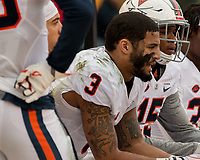 Virginia free safety Quin Blanding. The Pitt Panthers defeated the Virginia Cavaliers 31-14 at Heinz Field, Pittsburgh, PA on October 28, 2017.