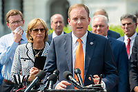 United States Representative Lee Zeldin (Republican of New York) offers remarks during a press conference regarding an Amicus Brief urging the Supreme Court to overturn a 110 year-old New York gun law that imposes limits on carrying weapons outside of the home, at the US Capitol in Washington, DC, Tuesday, July 20, 2021. Credit: Rod Lamkey / CNP /MediaPunch