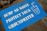 Water grate sign