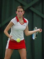 10-3-06, Netherlands, tennis, Rotterdam, National indoor junior tennis championchips, Quirine Lemoine