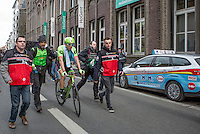 Sep Vanmarcke (BEL/Cannondale-Drapac) after finishing 3rd<br /> <br /> 72nd Omloop Het Nieuwsblad 2017