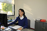 Anna Colombo hard at work in her office Santini Factory, Lallio, Italy. 30th September 2015.<br /> Picture: Eoin Clarke | Newsfile