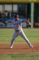 Stockton Ports second baseman Nate Mondou (10) during a California League game against the Visalia Rawhide at Visalia Recreation Ballpark on May 8, 2018 in Visalia, California. Stockton defeated Visalia 6-2. (Zachary Lucy/Four Seam Images)