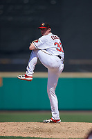 Rochester Red Wings pitcher Ryan Eades (37) during an International League game against the Scranton/Wilkes-Barre RailRiders on June 25, 2019 at Frontier Field in Rochester, New York.  Rochester defeated Scranton 10-9.  (Mike Janes/Four Seam Images)