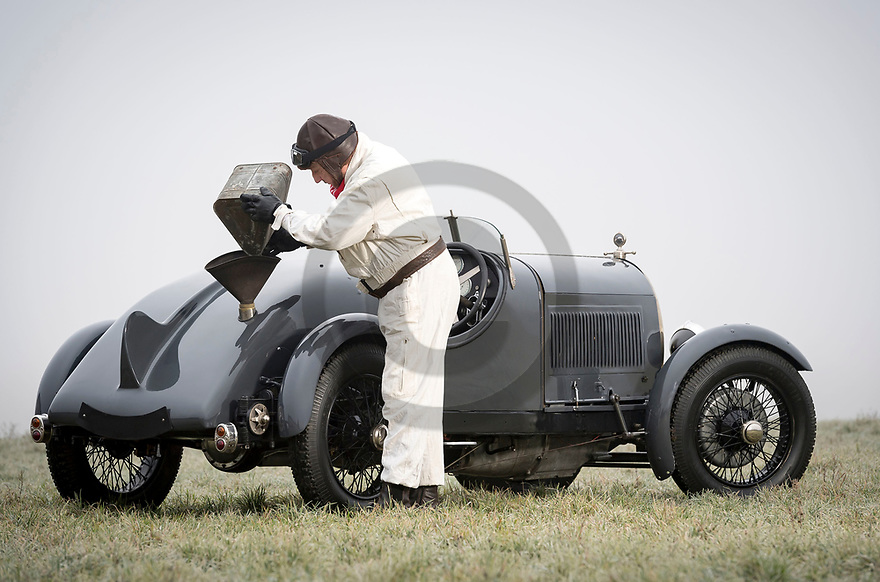 3/01/19 - MARINGUES - PUY DE DOME - FRANCE - Essais voiturette DELFOSSE type CD7 de 1925 - Photo Jerome CHABANNE