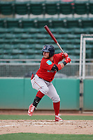 Boston Red Sox second baseman Esteban Quiroz (79) at bat during a Florida Instructional League game against the Baltimore Orioles on September 21, 2018 at JetBlue Park in Fort Myers, Florida.  (Mike Janes/Four Seam Images)