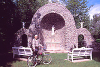 Caraquet, NB, New Brunswick, Canada - Monument to Our Lady of the Assumption / Sainte-Anne-du-Bocage Shrine, a Catholic Sanctuary - M. Cormier, Stone Mason, built the Shrine