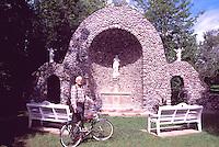 Caraquet, NB, New Brunswick, Canada - Monument to Our Lady of the Assumption / Sainte-Anne-du-Bocage Shrine, a Catholic Sanctuary - M. Cormier, Stone Mason, built the Shrine