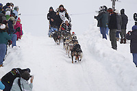 Anna Berington Saturday, March 3, 2012  Ceremonial Start of Iditarod 2012 in Anchorage, Alaska.