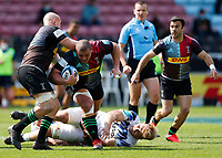 29th May 2021; Twickenham Stoop, London, England; English Premiership Rugby, Harlequins versus Bath; Wilco Louw of Harlequins crossing over the gain line in attack