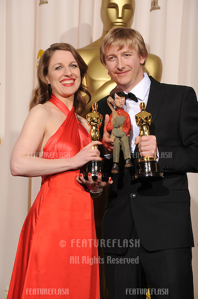 Suzie Templeton & Hugh Welchman at the 80th Annual Academy Awards at the Kodak Theatre, Hollywood..February 24, 2008 Los Angeles, CA.Picture: Paul Smith / Featureflash