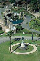 Lush gardens seen from Saint Peter's Basilica, Vatican City, Rome, Italy.