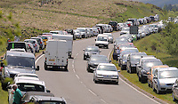 Bank Holiday Monday traffic on the A470 road near Storey Arms in Brecon, Wales, UK. 30 May 2016