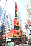 """Jim Steinman's """"Bat out of Hell - The Musical"""" Box Office Ticket Sale launch with Bus and Billboard in Times Square on May 15, 2019 in New York City."""
