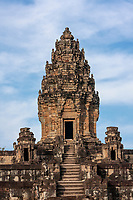 Cambodia, Bakong Temple, Ninth Century, Central Tower.