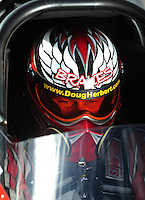 Oct. 31, 2008; Las Vegas, NV, USA: NHRA top fuel dragster driver Doug Herbert during qualifying for the Las Vegas Nationals at The Strip in Las Vegas. Mandatory Credit: Mark J. Rebilas-