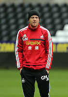 Wednesday 05 February 2014<br /> Pictured: Garry Monk<br /> Re: Swansea City FC training with Garry Monk as head coach after the departure of Michael Laudrup, at the Li Liberty Stadium, south Wales.