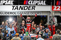 Podium celebrations for Race 6 of the 2010 Clipsal 500, Adelaide.  Garth Tander, Toll Holden racing team taking both race wins.
