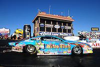 Feb. 17 2012; Chandler, AZ, USA; NHRA pro stock driver Greg Stanfield during qualifying for the Arizona Nationals at Firebird International Raceway. Mandatory Credit: Mark J. Rebilas-